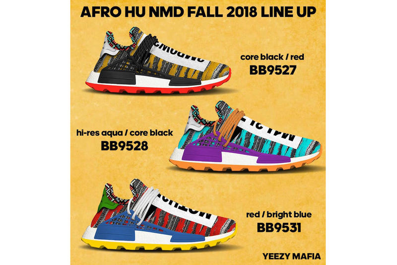 Pharrell Williams adidas originals Afro NMD Hu Pack Release