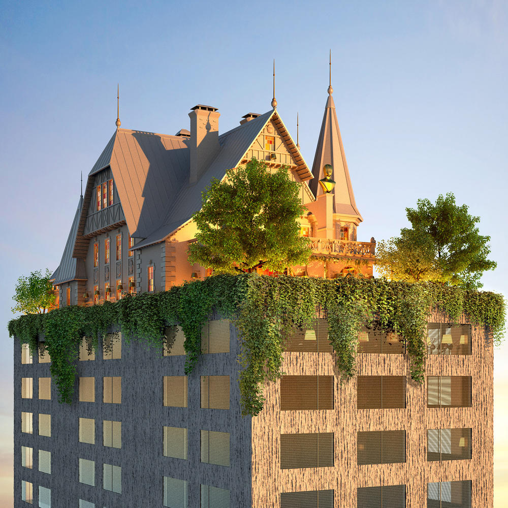 Philippe Starck 18th Century Style House top 14 story Hotel metz france hilton curio collection