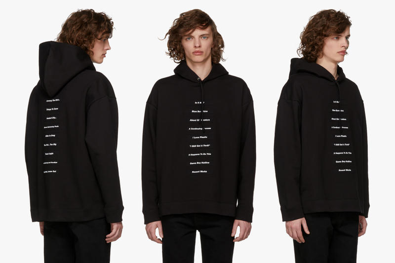 Raf Simons Spring Summer 2018 New Releases Hoodie Joy Division Unknown Pleasures Parka Replicant