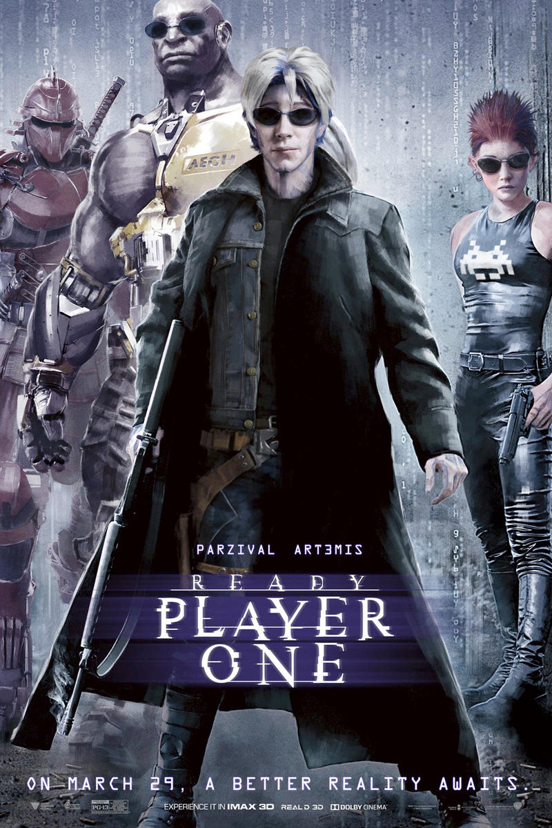 Ready Player One Nostalgic Movie Posters Back to the future matrix labyrinth