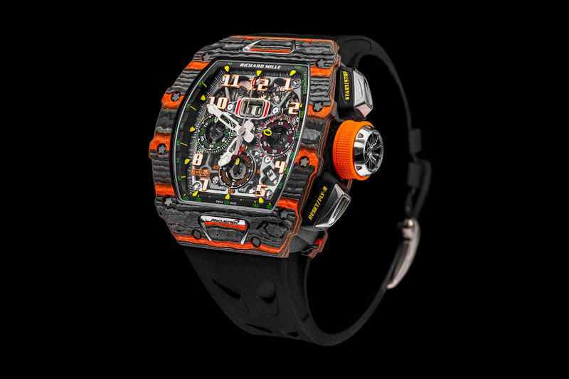 Richard Mille RM 11 03 McLaren Automatic Flyback Chronograph watch black orange release date info drop