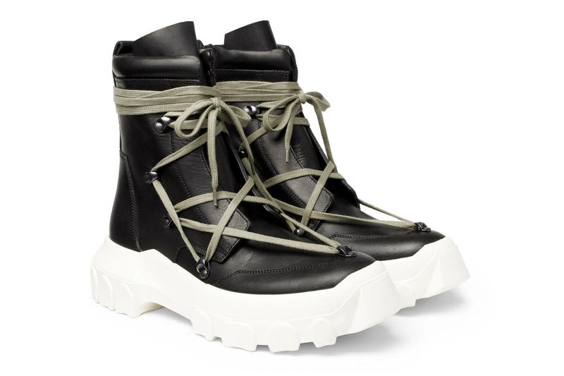 Rick Owens DIRT Hiking Boot Spring Summer 2018 Collection black leather release info