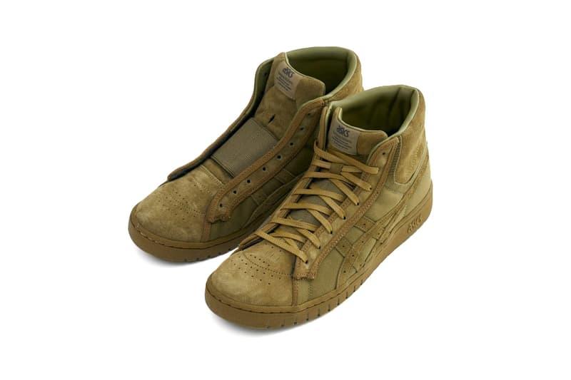 SASQUATCHFABRIX ASICS GEL PTG MT Collaboration mid top sneaker shoe japan suede laceless april 7 2018 release date info drop footwear