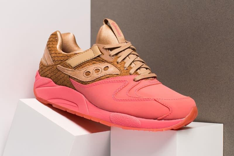 Saucony Grid 9000 fish scale suede orange pink footwear 2018 Oneness
