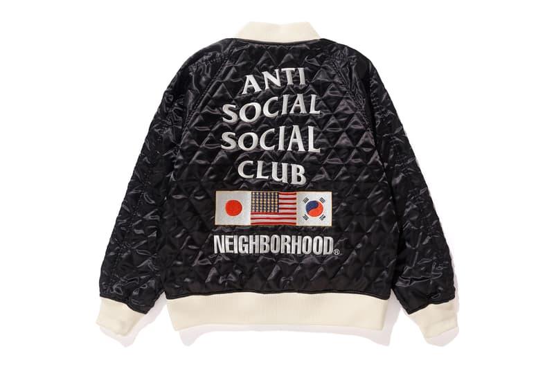 eb50421bced0 SENSE NEIGHBORHOOD Anti Social Social Club Collaboration Unveil Bomber  Black Beige