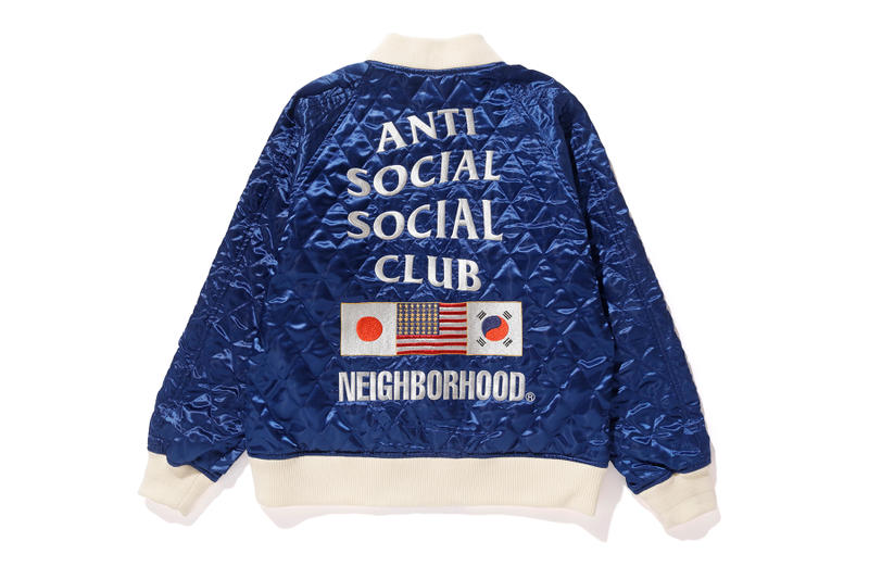 SENSE NEIGHBORHOOD Anti Social Social Club Collaboration Unveil Bomber Black Beige