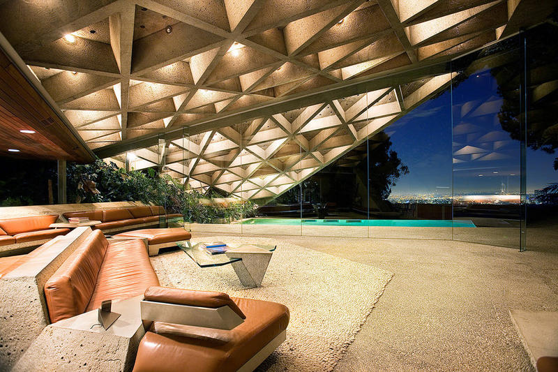 The Big Lebowski Porno house Sheats-Goldstein House John Lautner Los Angeles Home Architecture