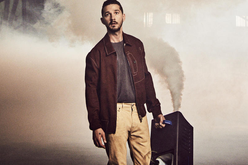 Shia LaBeouf Donates Clothes Kanye West military normcore esquire interview style yeezy cover story 2018 april issue