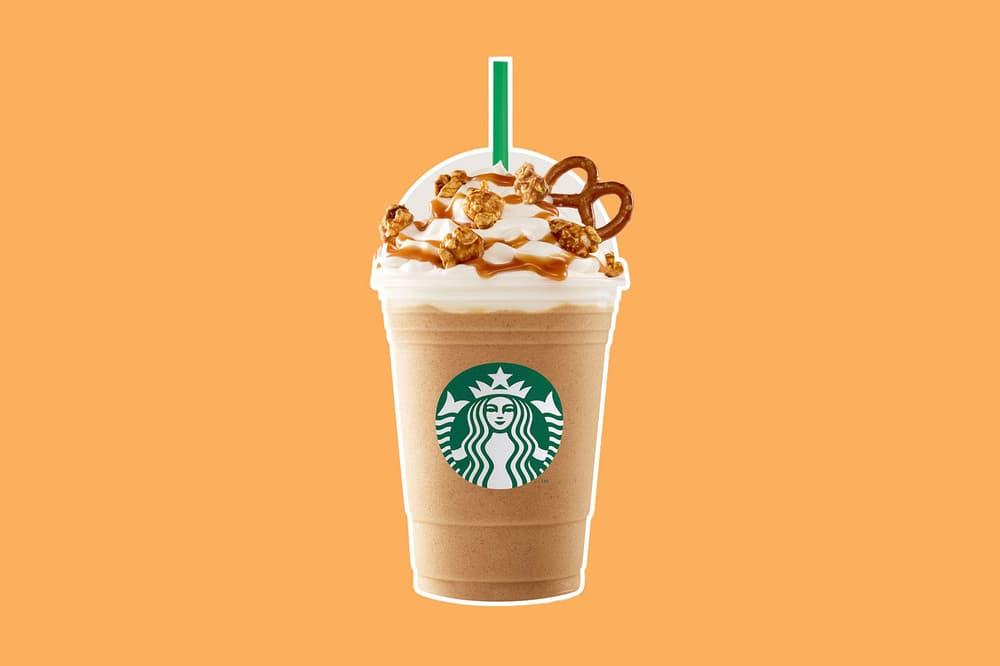 Starbucks Caramel Popcorn Pretzel Frappuccino release date info drop Australia limited edition exclusive drinks coffee frap
