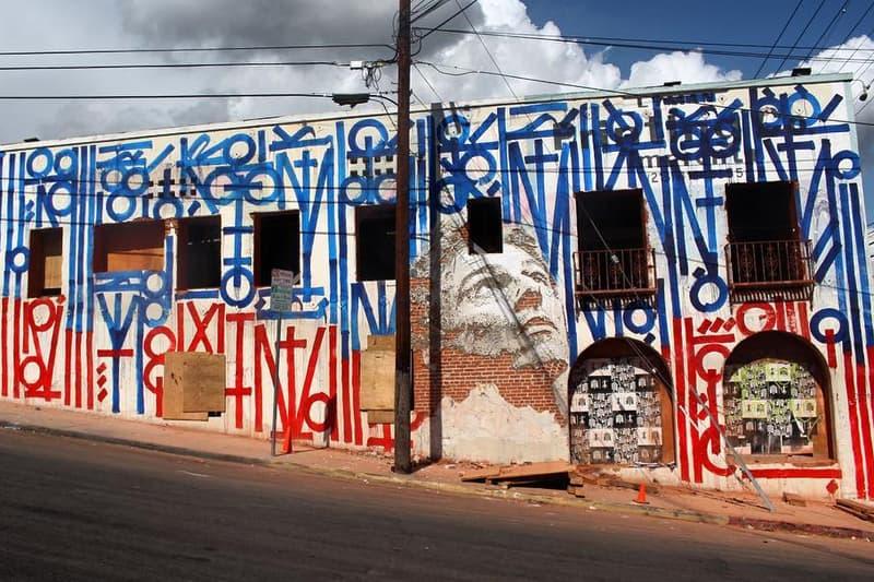 Vhils Retna Collaboration Los Angeles Mural Street Art Banksy Shepard Fairey JR