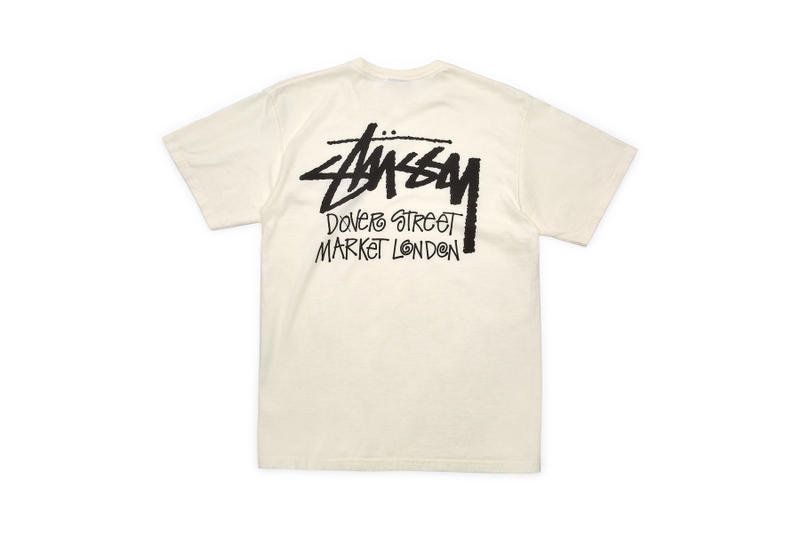 stussy dover street market london dsm dsml dsmny Pigment Dyed Hoodies T-shirts pink black white green natural