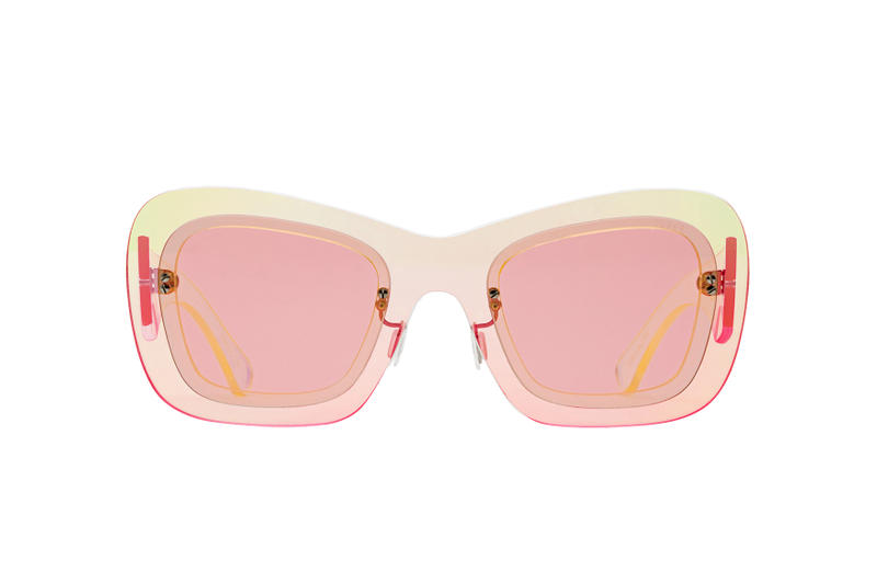 SUPER by RETROSUPERFUTURE Layers spring summer 2018 debut release drop launch matte black translucent pink collection lenses frame
