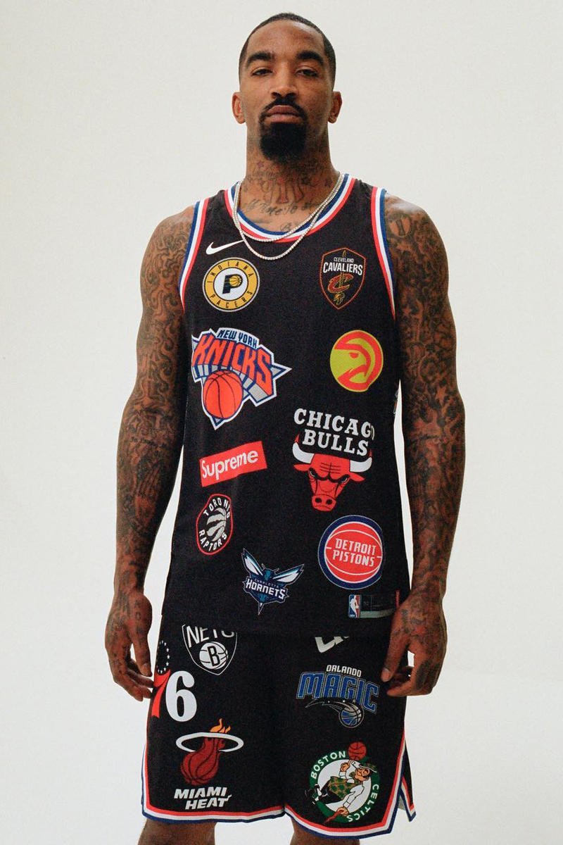 Supreme Nike NBA logo jersey collaboration spring summer 2018 collection drop release collaboration