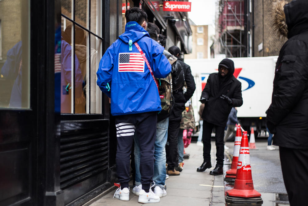 Supreme Spring/Summer 2018 Streetsnaps Drop 3 Street Style London Soho Store Lance Walsh