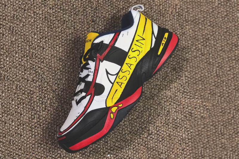 The Simpsons Assassins Nike Air Monarch Custom Mache customs Homer simpson sneakers