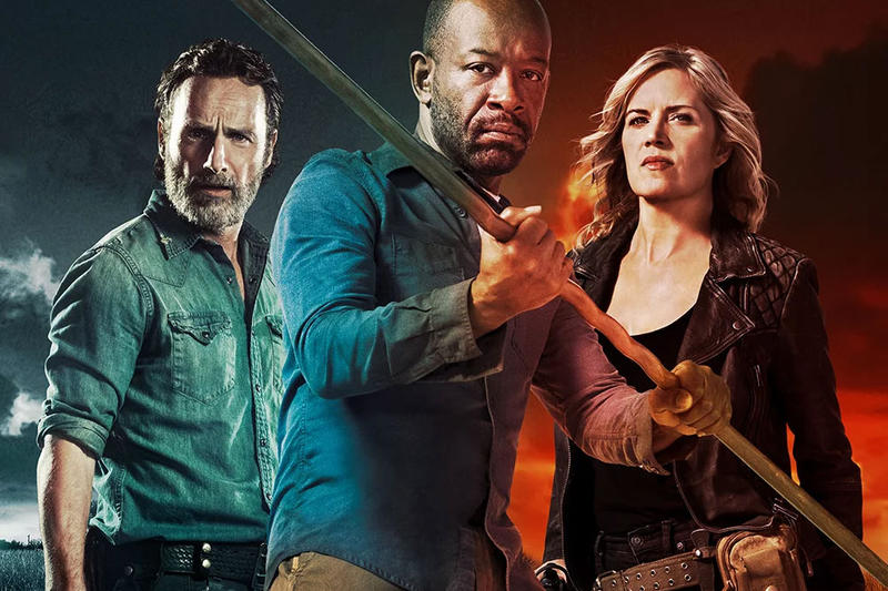 The Walking Dead Fear the Walking Dead Big Screen Crossover Zombies tv shows amc