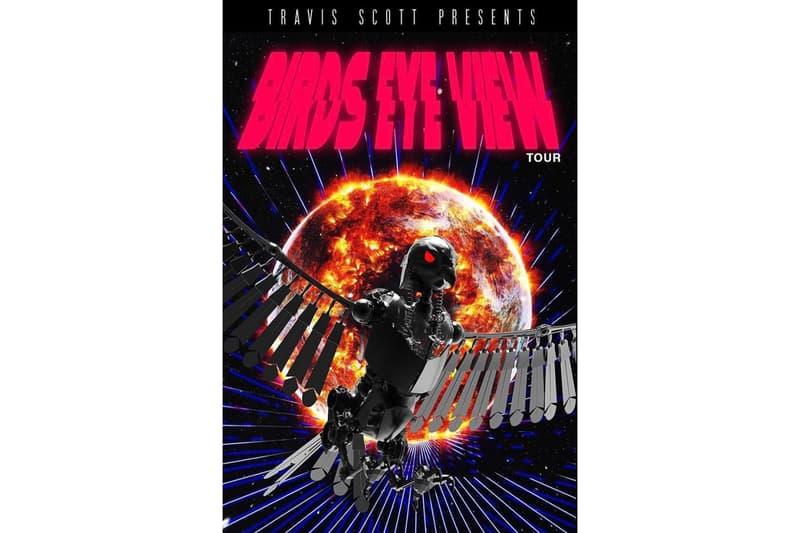Travis Scott Birds Eye View Tour Dates and Cities Announced