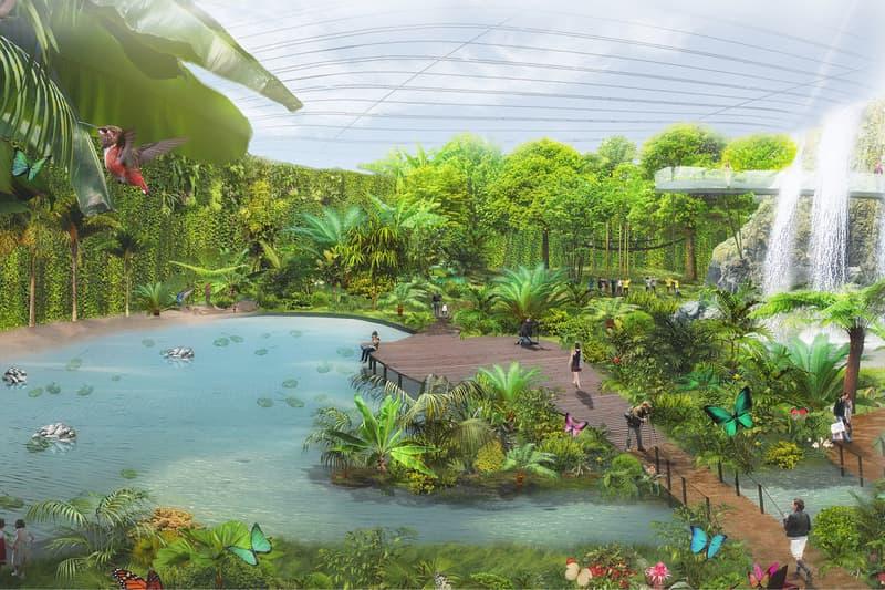 Tropicalia Single Domed Greenhouse Coldefy & Associates Dalkia France