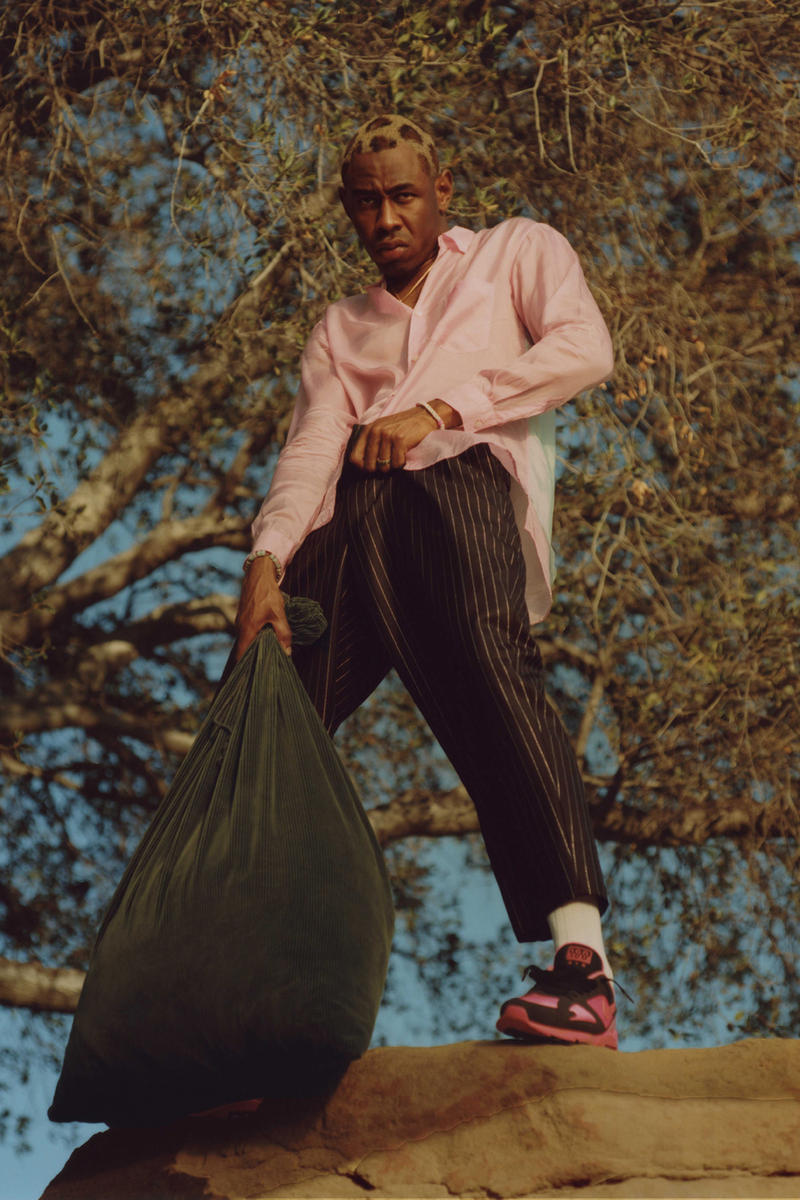 Tyler The Creator GRIND magazine japan comme des garcons homme plus editorial masataka hattori nike air max 180 collaboration menswear full durimel spring summer 2018