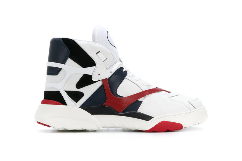 7325ad2e6561 Valentino Made One Paneled Basketball Sneakers spring summer 2018 march  release date info drop white navy