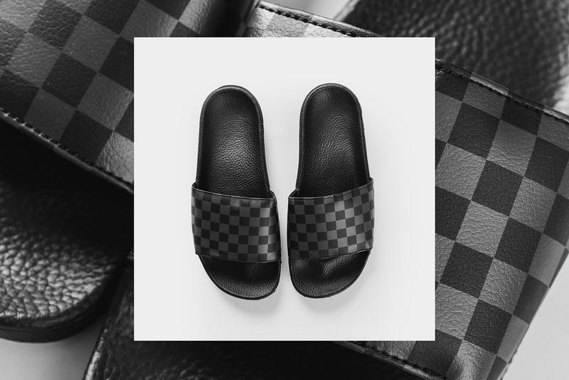 Vans Black & White Checkerboard Slides Collection Pool Summer New Shoes Womens Mens Swim Beach