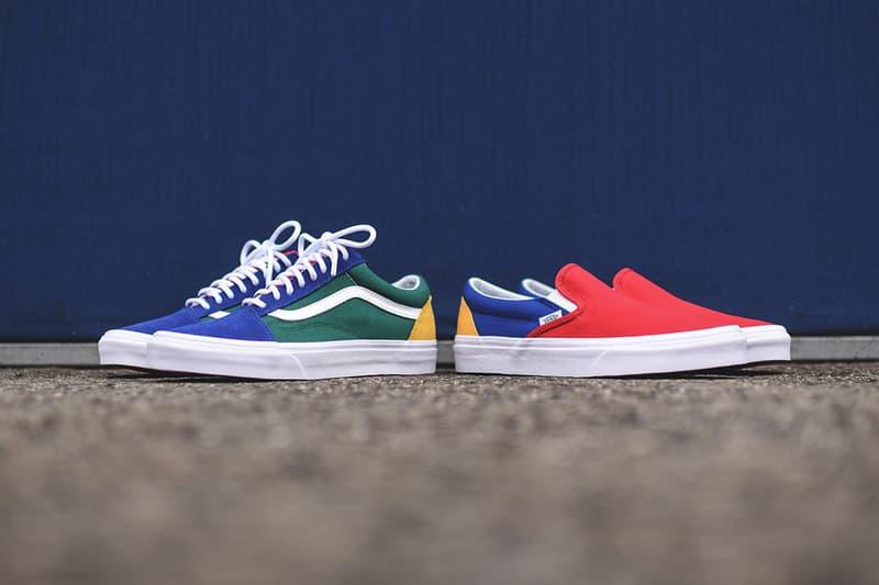 5862d3713a23bf vans yacht club footwear pack old skool slip on skateboarding shoes  sneakers kith