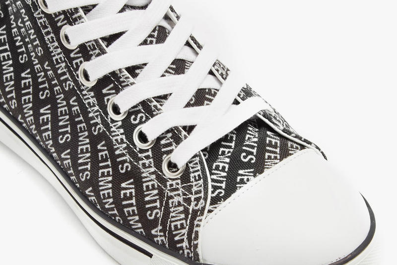 Vetements High-Top Canvas Trainer Spring Summer 2018 footwear sneakers