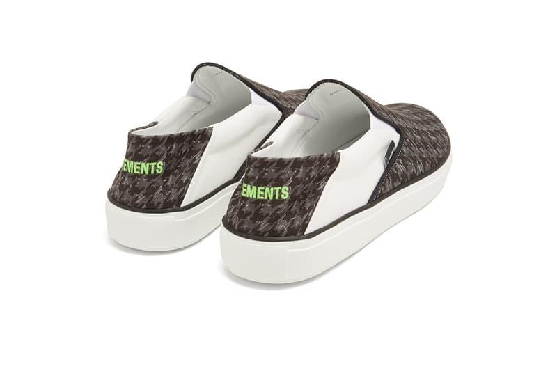 Vetements Houndstooth Slip-On release info sneakers footwear