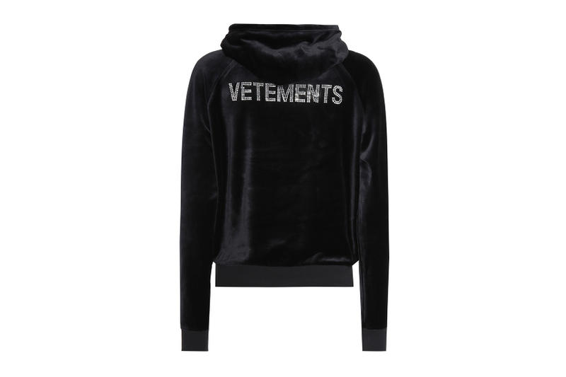 Vetements Juicy Couture Rhinestone Logo Hoodie spring summer 2018 march release date info drop