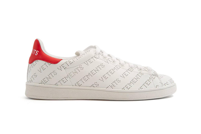 Vetements Stan Smith Logo Leather Sneakers Release purchase perforated low top