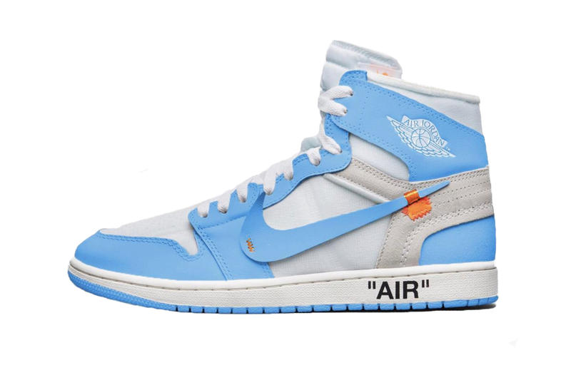 6ccc30146e7527 Virgil Abloh Air Jordan 1 UNC Blue Off-White Jordan Brand