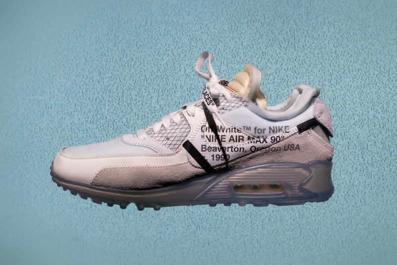 Virgil Abloh Nike Air Max 90 Black Cone White Black The Ten footwear Off White teaser rumor mock up drawing