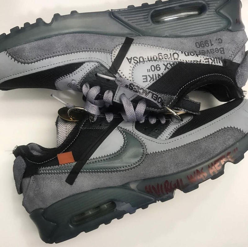 various colors 7e857 f6a82 Virgil Abloh x Nike Air Max 90 Grey Colorway | HYPEBEAST