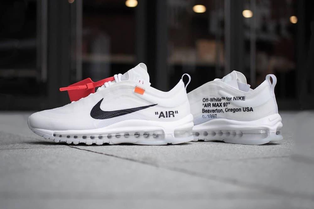 Virgil Abloh Nike air max 97 november 2018 drop release date info new colorways leak the ten