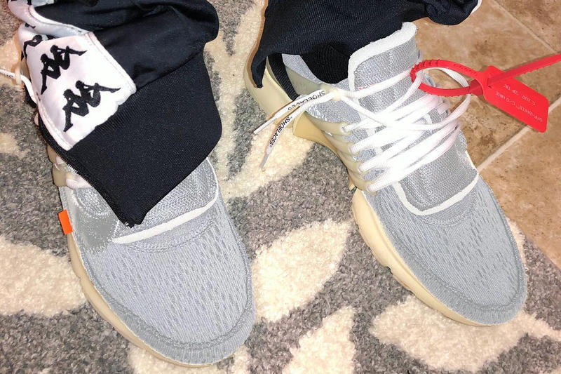 Virgil Abloh Nike Air Presto 2018 Edition Sneakers Shoes Trainers Kicks Gray Colorway White Laces Leak Grey Off-White