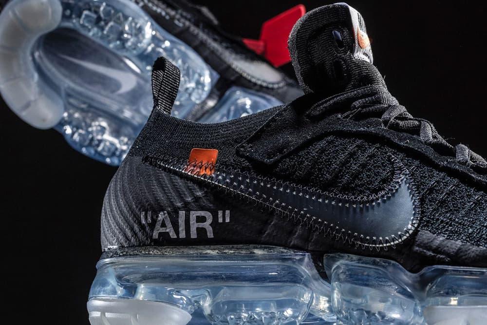 Virgil Abloh Nike Air VaporMax Black The Ten Off White release info