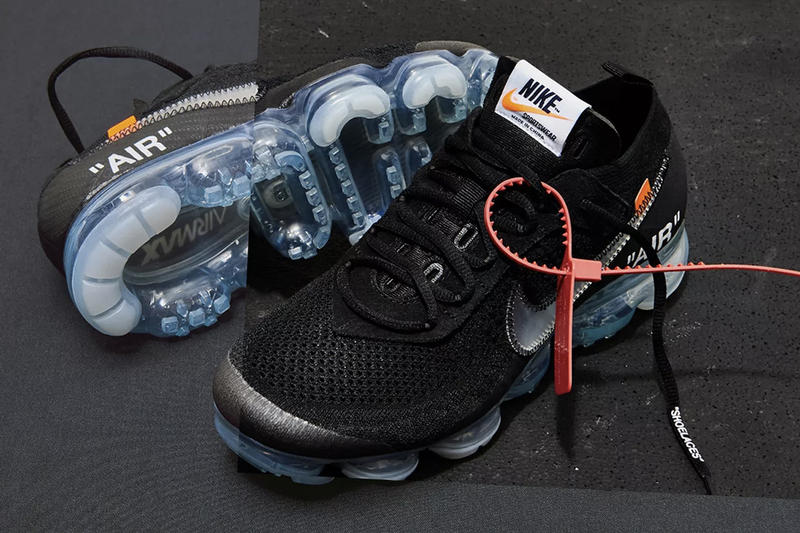 Virgil Abloh Nike Air VaporMax Flyknit Black White Raffle The Ten End.