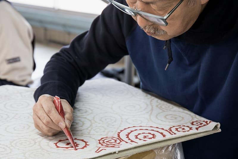 visvim Hand Sketch Dissertation spring summer 2018 march jumbo hoodie artisan detail Tegaki Yuzen hand made  drawn dye