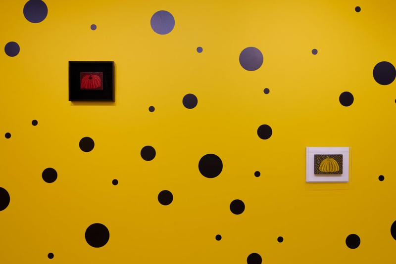 Yayoi Kusama Small Pumpkin Paintings Exhibition London Omer Tiroche Gallery Infinity Rooms Art