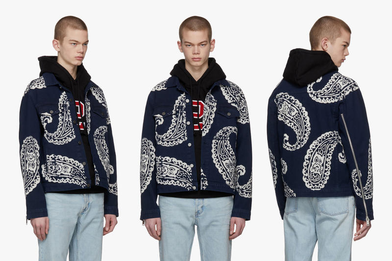 424 Paisley Denim Jacket SSENSE Exclusive release info fourtwofour guillermo andrade