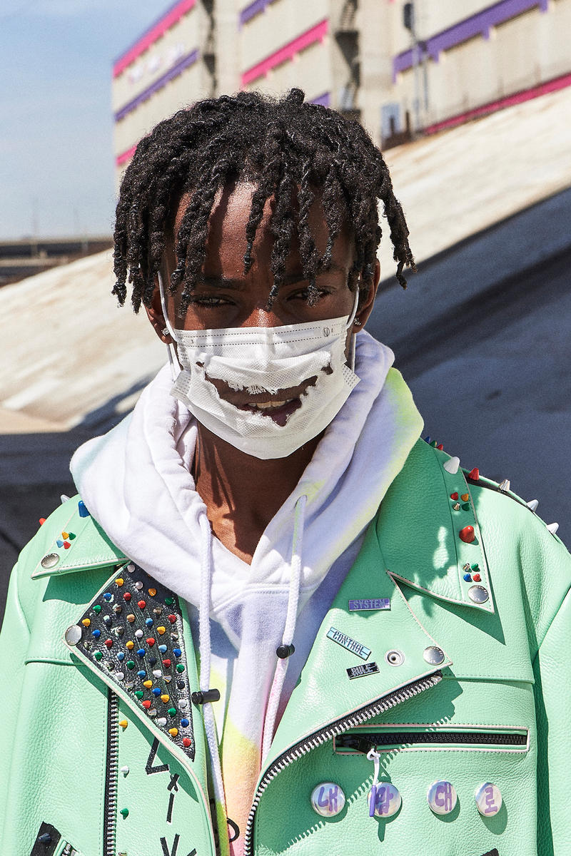 99%IS Bajowoo h lorenzo pop up custom painted leather jacket limited drop release april 12 2018 los angeles california black tan