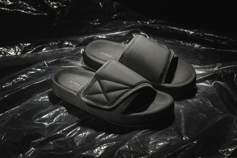 YEEZY Season 6 Closer Look Calabasas Collection Kanye West Desert Rat Boot Graphite Suede Taupe Sandals Slides