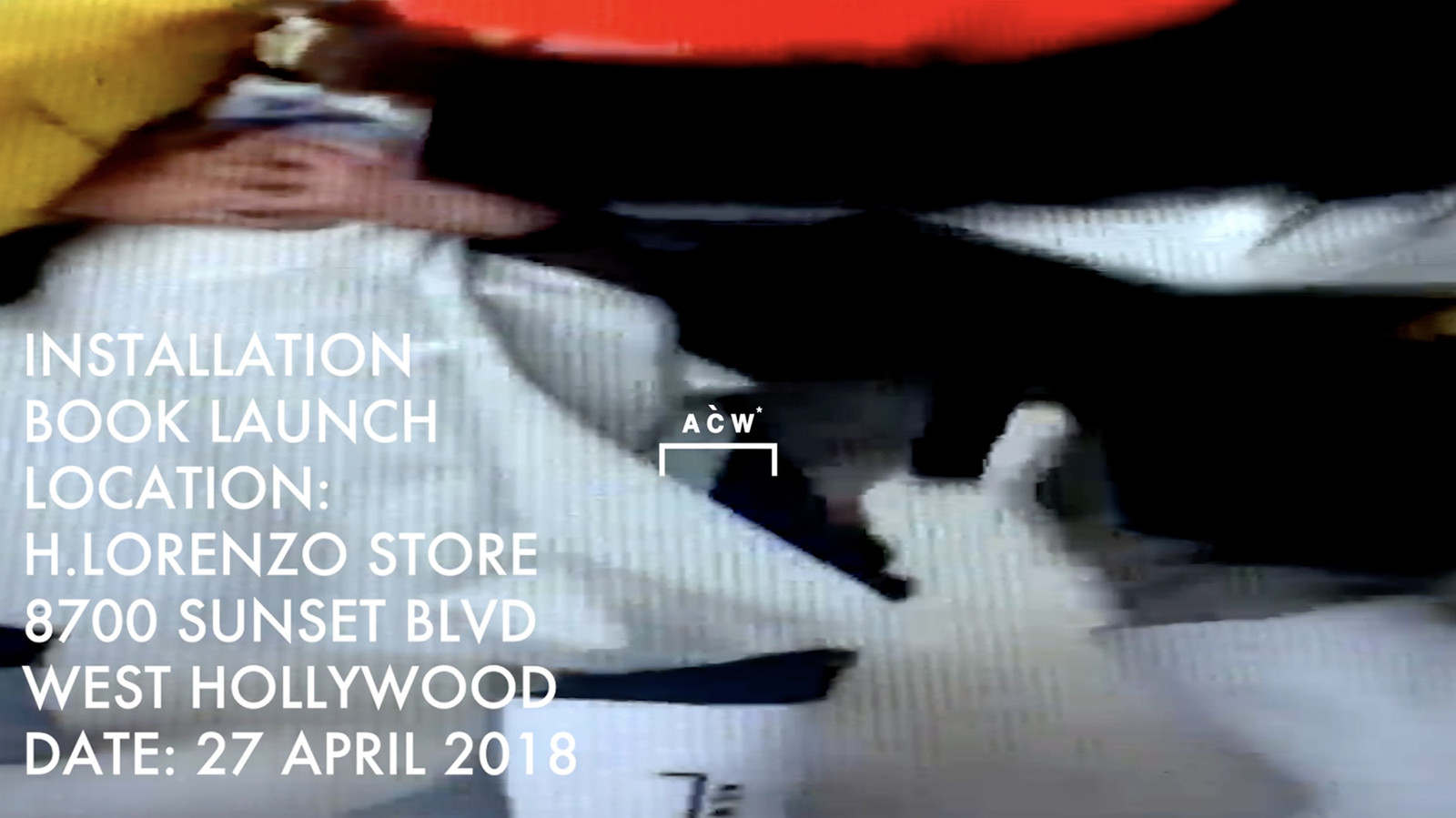 A COLD WALL H Lorenzo Installation Book Signing april 2018