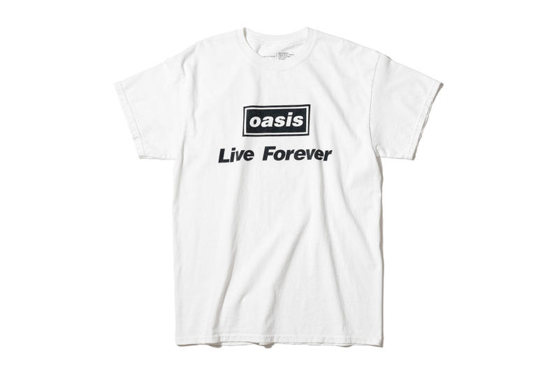 Oasis ADAM ET ROPÉ tee shirt collaboration collection liam gallagher wonderwall japan exclusive sony music publishing Champagne Supernova Don't Look Back in Anger Live Forever Supersonic