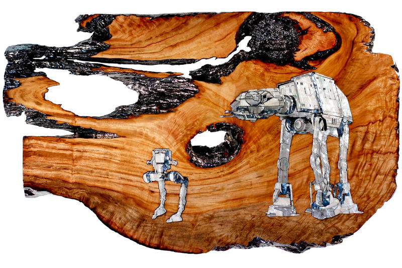 """Adam Lister & Ted Lincoln """"Impressive Most Impressive"""" Exhibition star wars day may the 4th black book gallery boba fett darth vader death star at-at"""