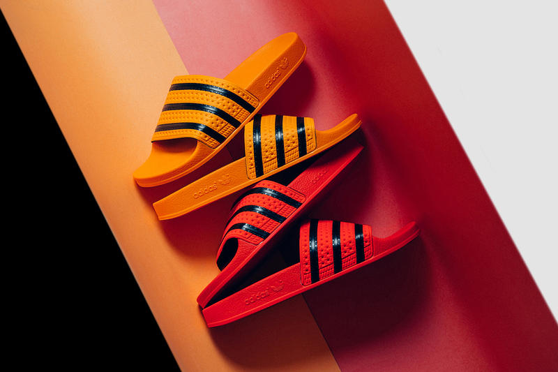 e78de954732f adidas Originals Adilette Slides spring summer 2018 Regal Coral Regal Gold  release info