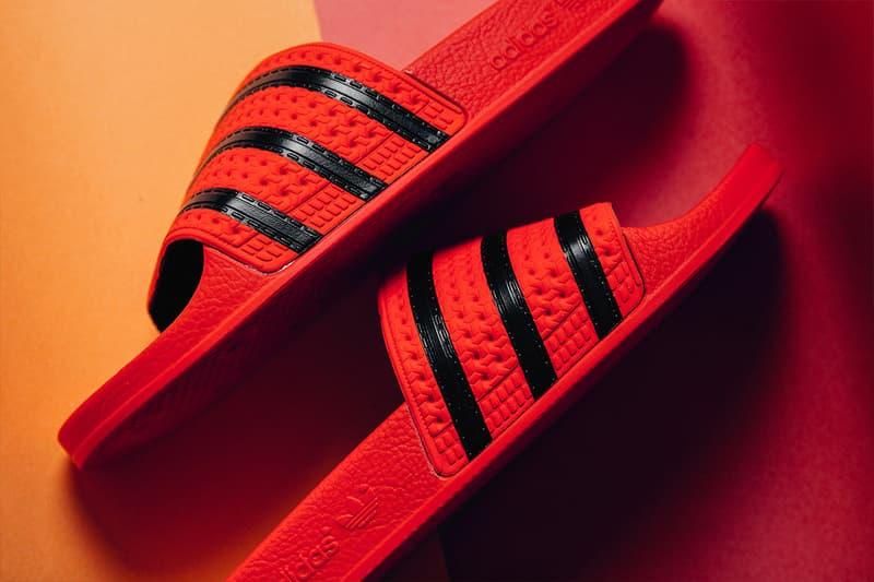 adidas Originals Adilette Slides spring summer 2018 Regal Coral Regal Gold release info