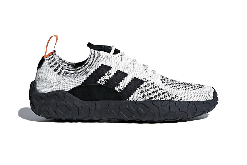 efc1243bf A lifestyle silhouette with a rugged trail-ready sole. adidas F 22  Primeknit black white first look sneakers ...