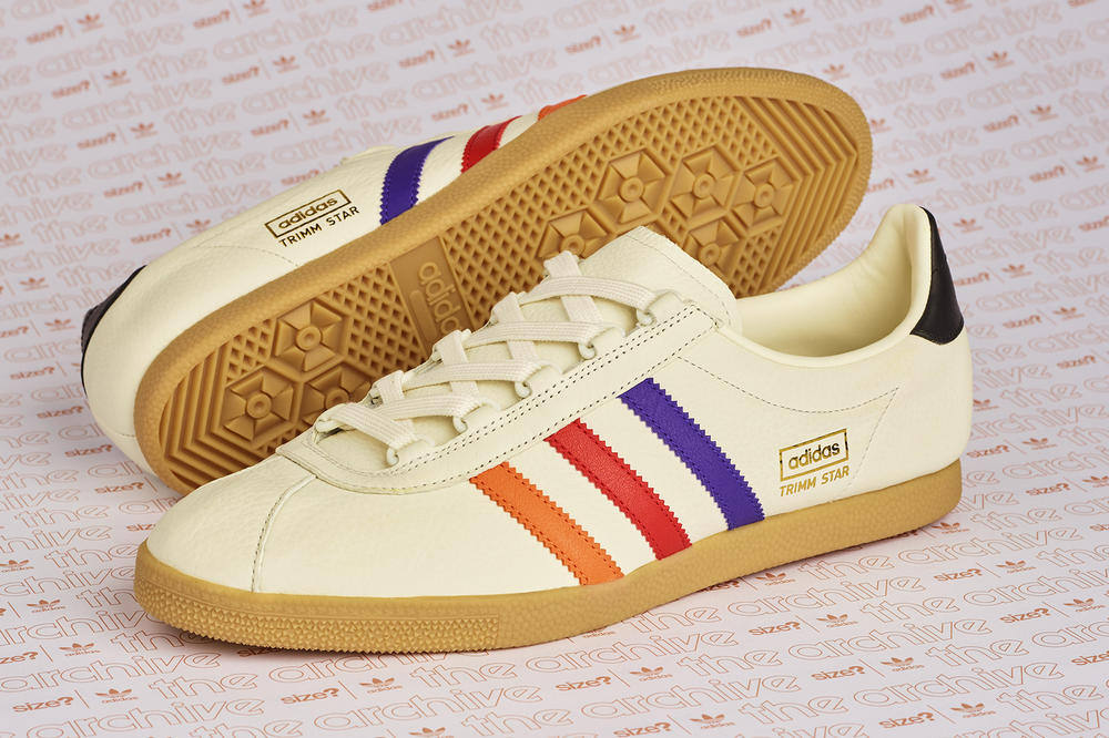 """size? adidas Originals Trimm Star """"VHS"""" Sneaker Trainer Footwear Release Details Exclusive How to Cop Buy Purchase Pick-Up"""