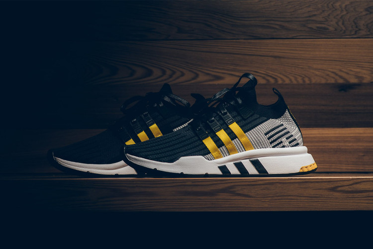 brand new b0e7c 7ccc3 adidas EQT Support ADV Primeknit Drops in BlackYellow